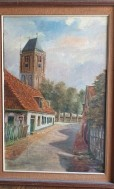 Schilderij, olieverf op doek, Oosterend Oesterstraat