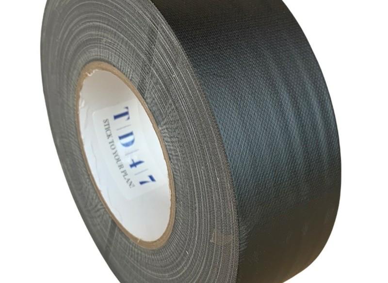 TD47 Gaffa Tape 50mm x 50m Mat Zwart