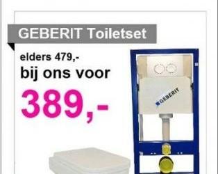 geberit wc aktie nu voor 389,- Euro