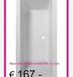 Showroom Opruiming Witte Baden Voor 167,- EXCL BTW