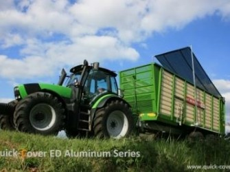 Quick-Cover Roll-Tarp system for dump & silage trailers