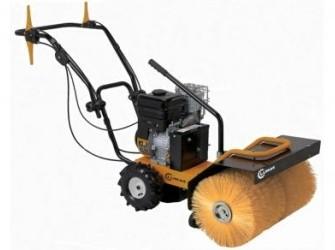 Lumag benzine veegmachine met opvangbak en sneeuws