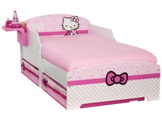 Hello Kitty Peuterbed, Luxe Matras en Beddengoed set