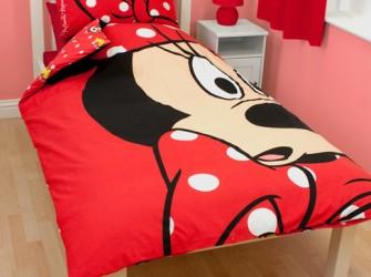 Minnie Mouse DIVA Eenpersoons Dekbedovertrek