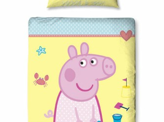 Peppa Pig Big SEASIDE Junior Dekbedovertrek