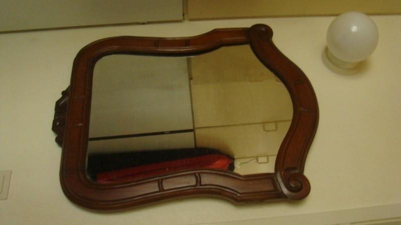 ovale spiegel mahonie