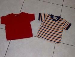 zgn.rood + streepshirt H&M mt 62