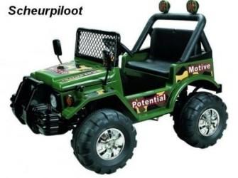 Jeep Jungle, 2 persoons 12V Kleur:Groen **NIEUW**