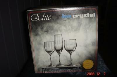 Nieuwe kristallen wijnglazen