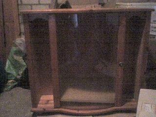 TV kastje met glazen deur TE KOOP!!