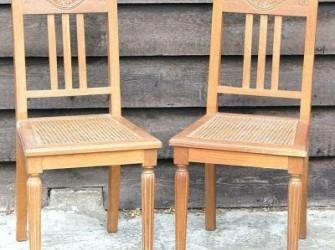houten webbing stoeltjes