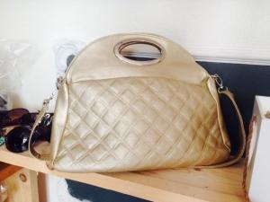 Stoere dames tas beige/brons kleurig