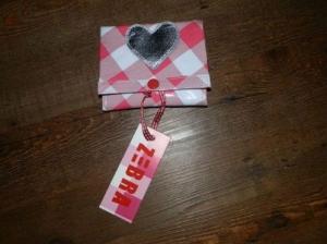 Portemonnee roze gehokt, merk zebra