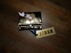 Portemonnee goud, merk zebra