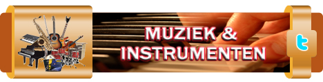 Muziek en instrumenten actiebanner