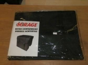Mirage retro lichtgewicht dubbele achtertas, zwart