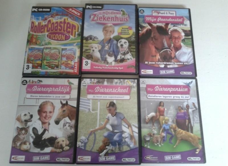 6 pc spellen,apart of samen kopen, €5 per spel