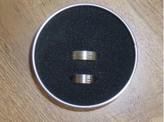 zgan SCORE ringen titanium/brons