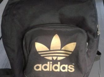 NIEUWE Adidas rugtas met laptopvak, zwart met goud.