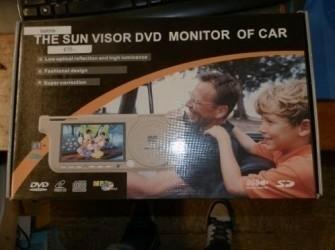Zonnescherm 7 Inch LCD Monitor met dvd speler/SD+ gri