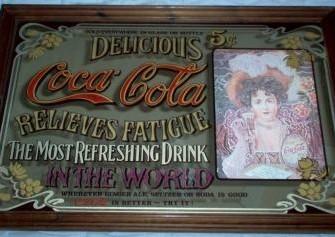 Grote Coca Cola spiegel