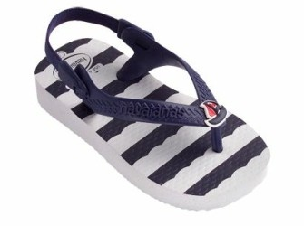 NIEUW! Havaianas slippers Baby Chic mt 19 wit bleu