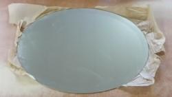 Ovale spiegel met geslepen facet-rand