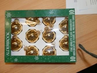 Kerstballen goud 10stuks