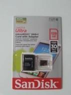 128GB SanDisk Ultra microSD XC UHS-I card met adapter
