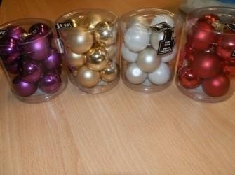 kerstbalen diverse kleuren 3cm 12stuks