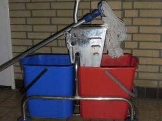 Professionele schoonmaak trolley