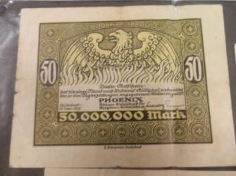 Reihe 22, 1923 funfzig 50 millionen mark