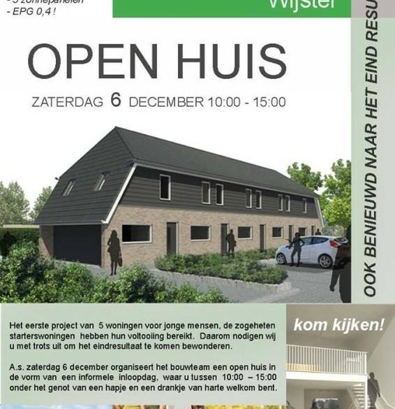 Open Huis Wijster van starterswoningen