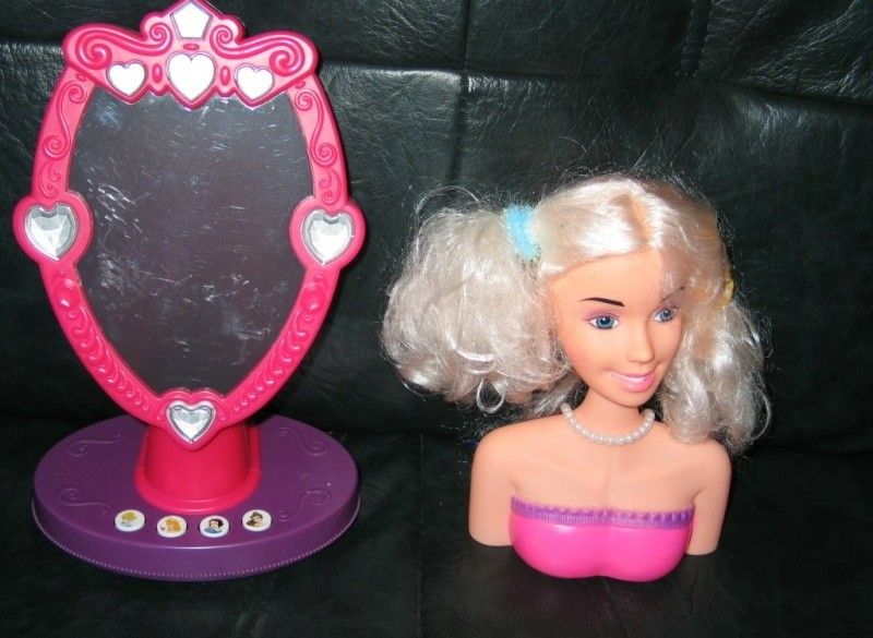 pop met spiegel