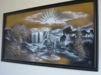 Mooi sfeervol schilderij.
