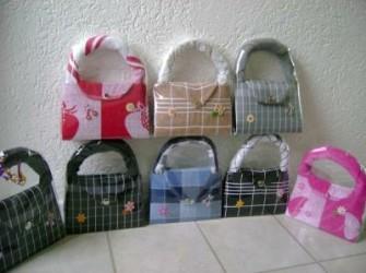 zelfgemaakte handtas