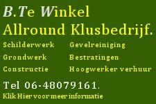 Allround Klusbedrijf B. te Winkel