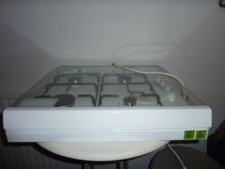 Gaskookplaat met electische ontsteking