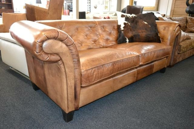 Chesterfield Valerie in sterk buffel leer