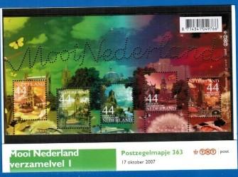 Postzegelmapje 363 # Mooi Nederland 2007 NVPH M363