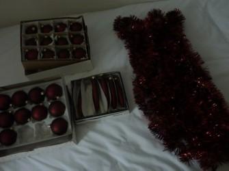 kerstspullen rood