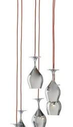 Unieke Hanglamp met 6 Wijnglazen KARE Design Glas