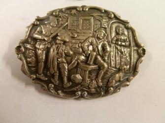 Antieke zilveren broche Pandjeshuis Harlingen