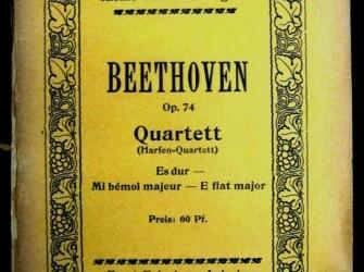 Beethoven,Strijkkw nr.10 in Es groot,opus 74, ca. 1920,gst