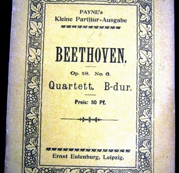 Beethoven Strijkkw Nr.6 in Bes groot, opus 18/6,ca.1911,gst