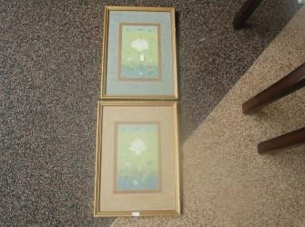 2x schilderijen bloemen Pandjeshuis Harlingen