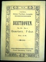Beethoven Strijkkw.Nr.7 in F majeur, opus 59.1,ca.1911,gst