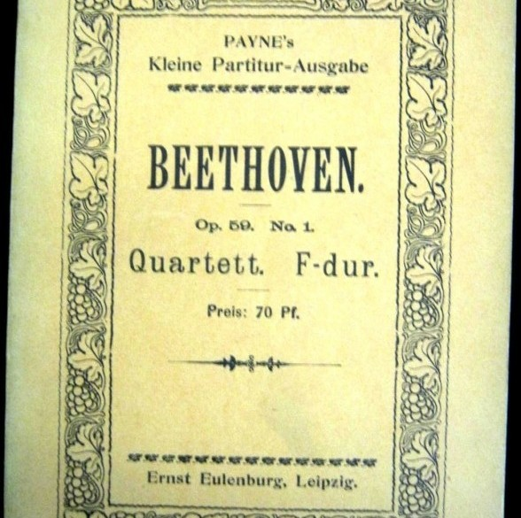Beethoven Strijkkw.Nr.7 in F majeur, opus 59.1,ca.1911,gst