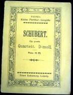 Schubert,Strijkkw. Nr.6 in D-groot ,ca.1920,gst