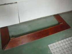 Merbau schoorsteen mantel